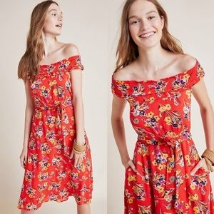 Anthropologie Colloquial Off-The-Shoulder Dress